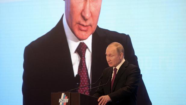 El presidente ruso, Vladímir Putin, durante un discurso esta semana en Moscú