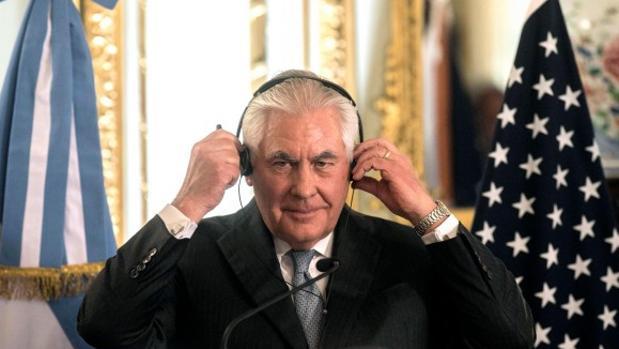 Tillerson durante su visita a Argentina, en la gira a varios países de la región