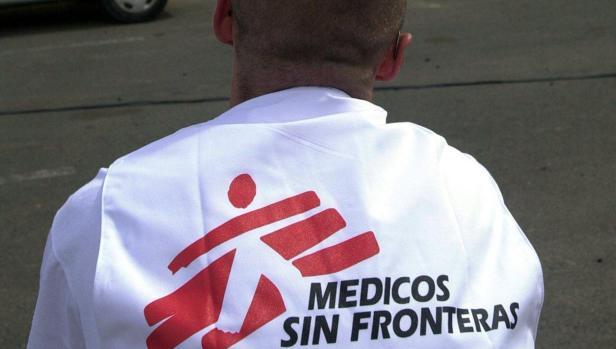 Un miembro de Médicos Sin Fronteras, en una imagen de archivo