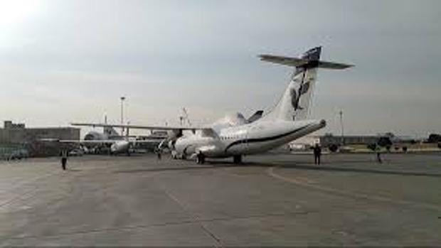 Modelo ATR, en el aeropuerto de Mehrabad, parecido al avión accidentado