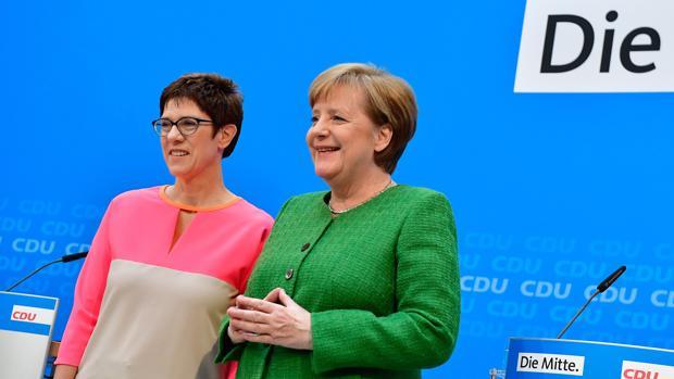 Annegret Kramp-Karrenbauer, candidata de Merkel a sucederla como presidenta de la CDU