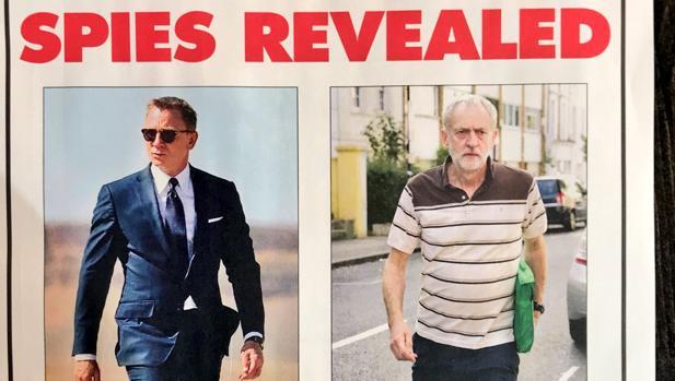 El líder laborista Jeremy Corbyn, acusado de ser espía de los soviéticos durante la Guerra Fría