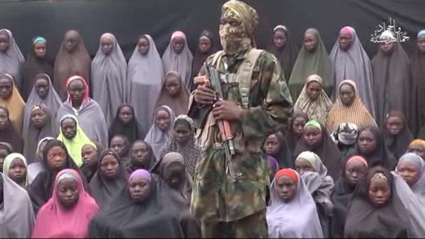Imagen de las 200 niñas secuestradas por Boko Haram en 2014