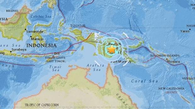 Al menos 31 muertos y 300 heridos en Papúa Nueva Guinea por terremotos