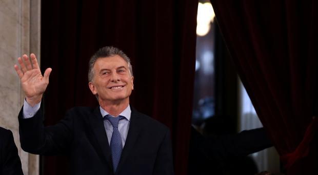 Mauricio Macri, en la apertura ayer de la nueva sesión del Congreso argentino