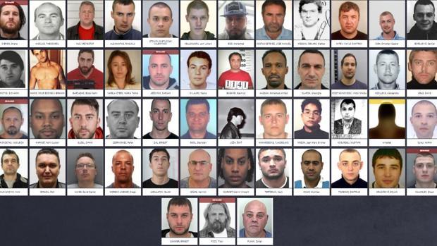 Captura de los 52 más buscados por Europol