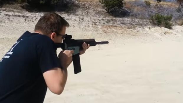 Vídeo de una prueba de un arma fabricada con impresora 3D