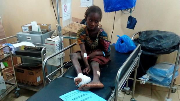 Una joven herida en un hospital tras el ataque de Boko Haram en Maiduguri