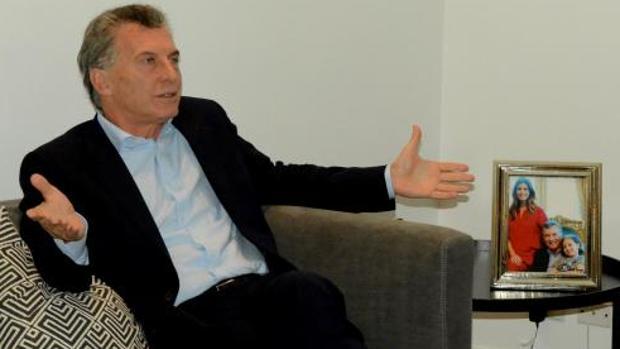 Mauricio Macri, durante la entrevista en la Quinta los Olivos