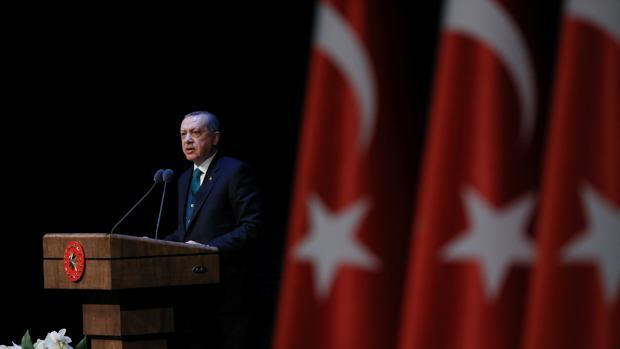 El persidente Erdogan, durante un acto en Ankara