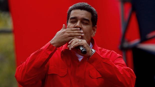 Nicolás Maduro, en un acto político este sábado en Caracas