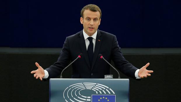 Macron en el Pleno de Estrasburgo