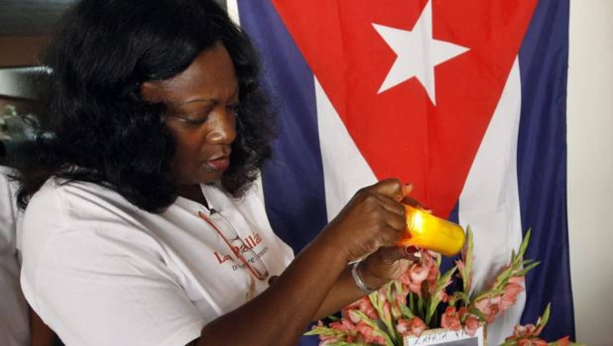 Berta Soler, presidenta de las Damas de Blanco, en una imagen de archivo - Efe