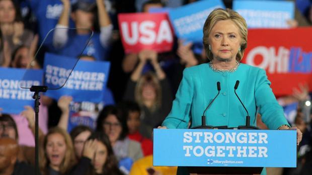 Hillary Clinton durante un acto en campaña a la Casa Blanca