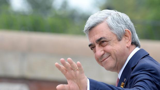 Foto de archivo del presidente de Armenia, Serge Sargsián