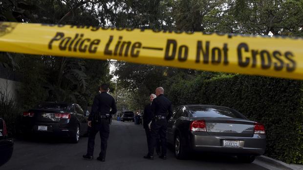 Cordón policial en un crimen anterior en Estados Unidos