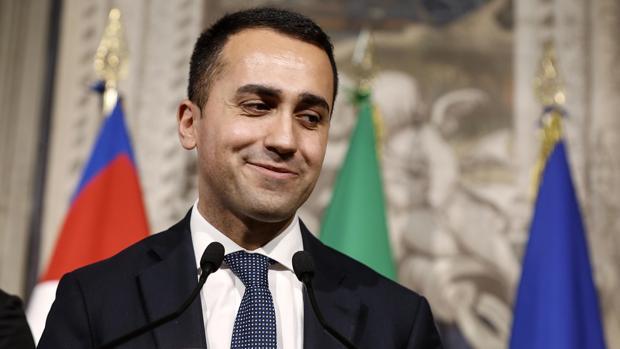 El líder del Movimiento Cinco Estrellas (M5S), Luigi Di Maio, tras su reunión con el Presidente de Italia