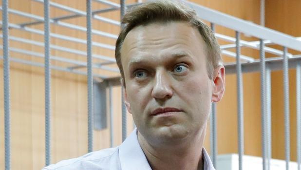 Alexei Navalni, durante la vista este martes en Moscú