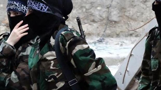 Grupo de militantes del grupo terrorista Daesh