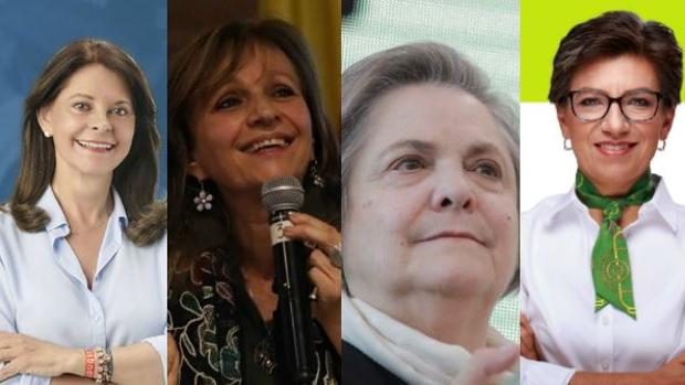 Marta Lucía Ramírez, Ángela María Robledo, Clara López y Claudia López candidatas a la vicepresidencia