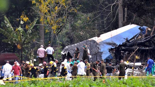 Imagen del avión estrellado
