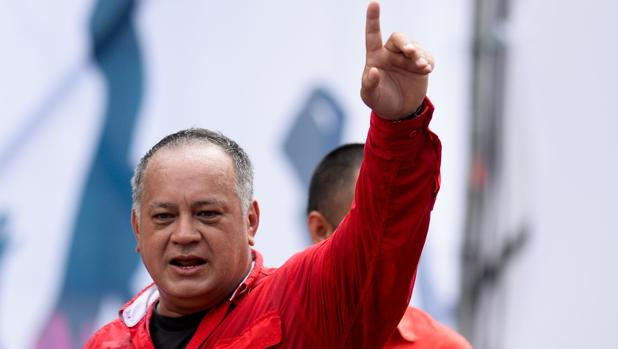 Diosdado Cabello, durante un acto en 2017 en apoyo de la reforma constitucional de Nicolás Maduro