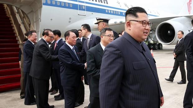 Kim Jong-un llega a Singapur para la cumbre con Donald Trump