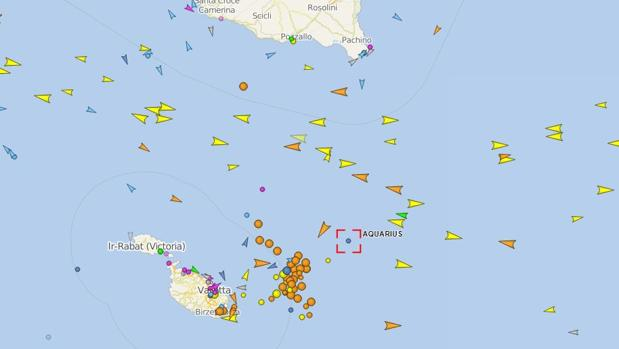 La ruta del barco Aquarius, en directo