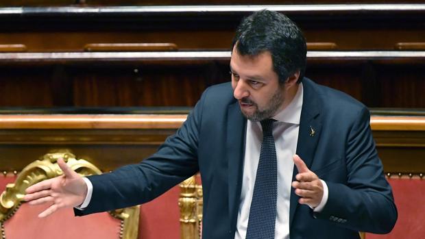 El ministro del interior italiano, Matteo Salvini en Roma
