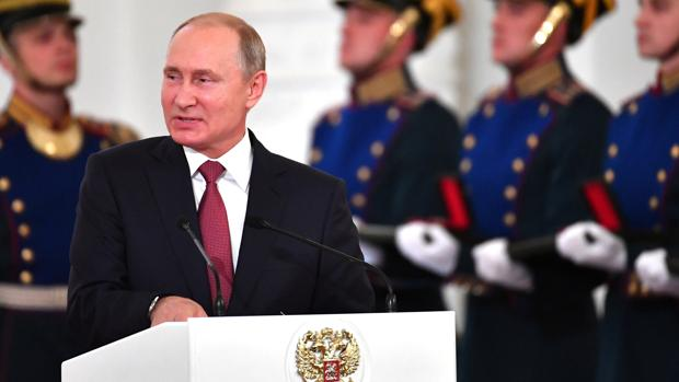 Putin da un discurso en el día de Rusia