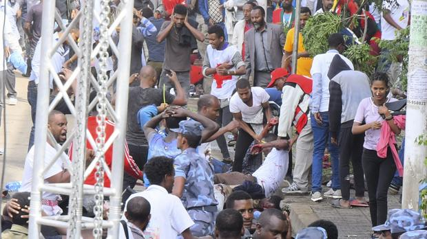 Varios muertos en una explosión en un mitin del primer ministro de Etiopía