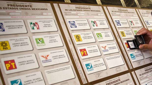 Papeletas para las elecciones en México