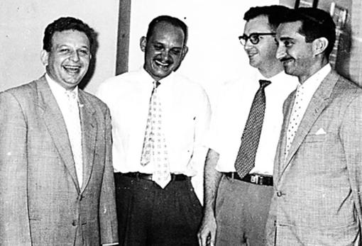 Enrique Aristeguieta (tercero por la izquierda) formó parte, como miembro de Copei, del grupo liderado desde 1957 por Fabricio Ojeda (primero por la izquierda)