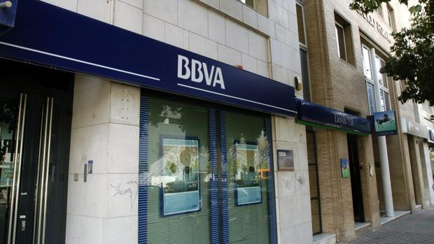 Sucursal del banco del BBVA en Madrid