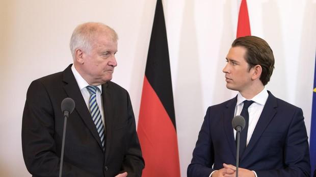 Alemania y Austria quieren pactar con Italia el cierre de la ruta mediterránea