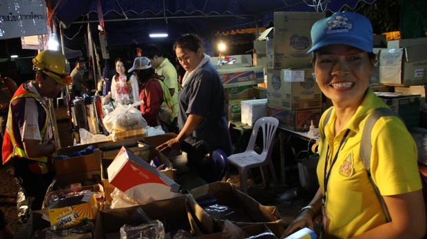 El «gran carnaval» de la solidaridad en Tailandia