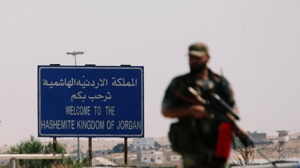 Frontera entre Siria y Jordania en la provincia de Deraa