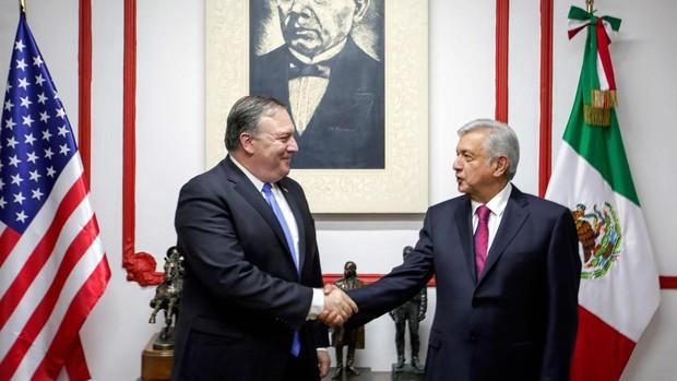 «Optimismo razonable» tras el primer encuentro entre Pompeo y López Obrador
