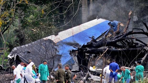 Imagen del avión siniestrado, pocos minutos después de despegar de La Habana