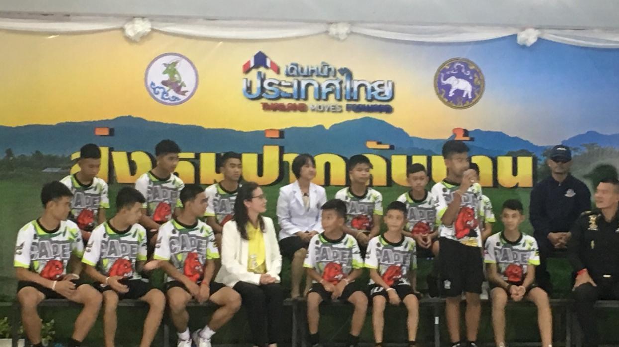 Los niños de la cueva de Tailandia hablan por primera vez para los medios