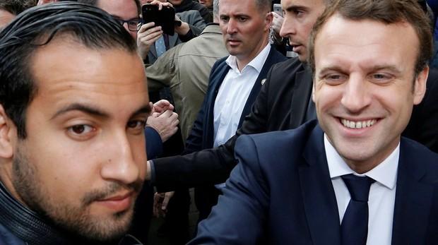 El responsable de seguridad de Macron se disfrazó de policía para pegar una paliza a un manifestante