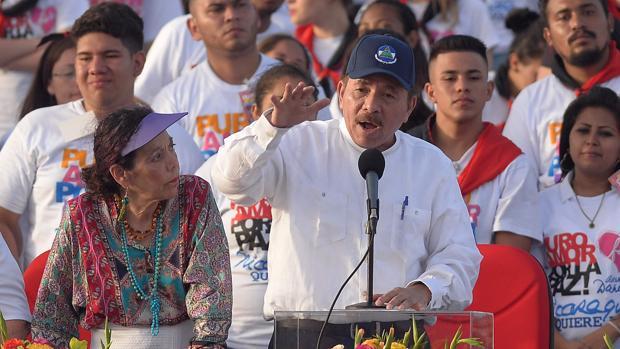 El presidente de Nicaragua, Daniel Ortega, celebra el 39º aniversario de la revolución sandinista