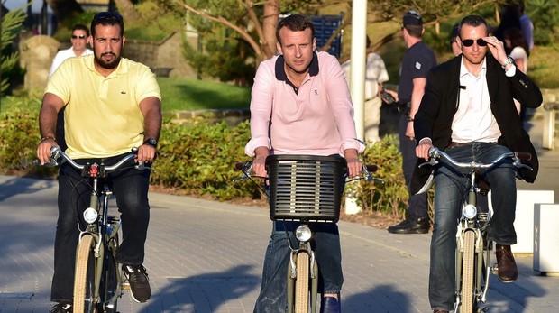 Detenido el jefe de seguridad de Macron por golpear a manifestantes