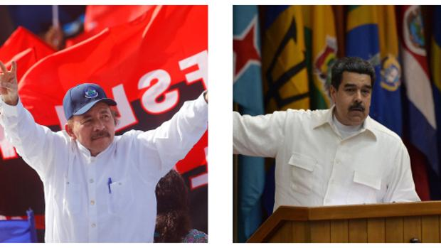 Daniel Ortega (izq) y Nicolas Maduro (drch)