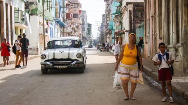 Una imagen cotidiana en las calles del centro de La Habana