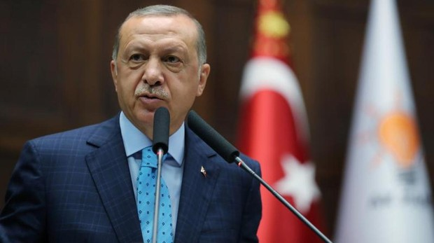 Erdogan en el Parlamento de Turquía