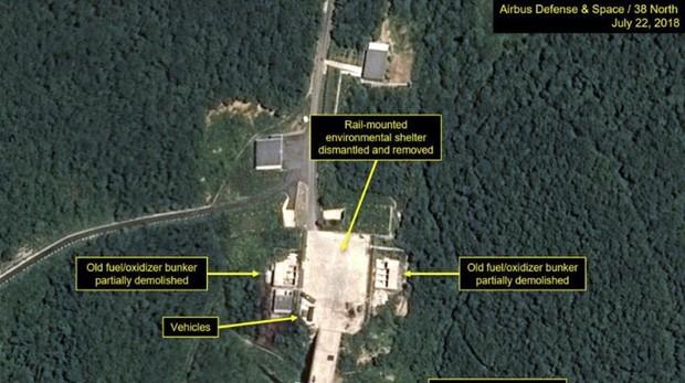 Corea del Norte cumple con lo pactado y comienza a desmontar una de las bases con misiles
