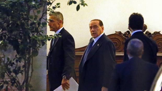 Imagen de archivo de Berlusconi en el Palacio Grazioli