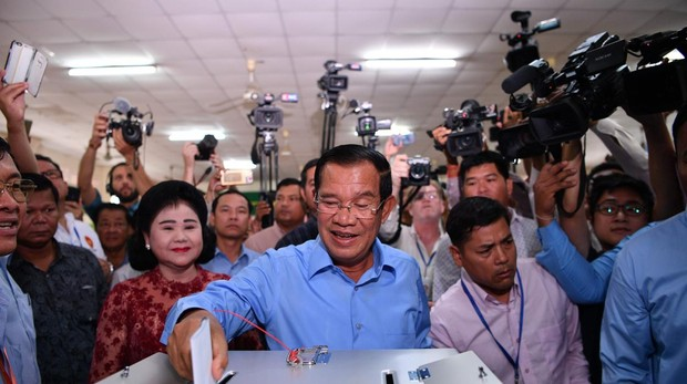 Farsa de elecciones en Camboya sin el principal partido opositor