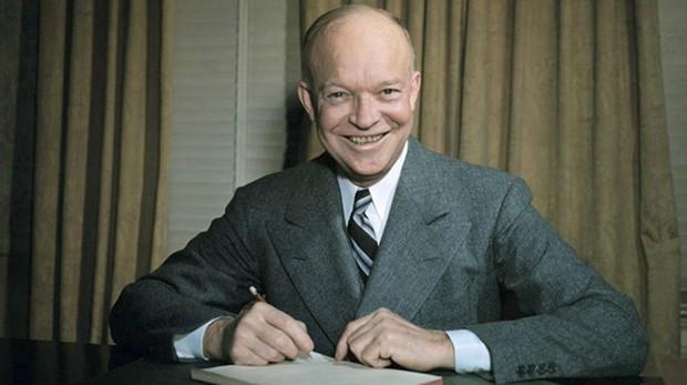 El presidente de Estados Unidos, Dwight Eisenhower